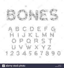 bones alphabet letters anatomy skeleton font skull and spine
