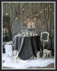 Winter White Christmas Decorations by White Christmas Table Decor