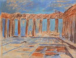 Parthenon Interior Interior Parthenon Acropolis Athens Greece By Louis I Kahn On