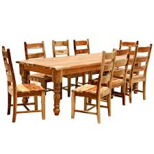 7pc Dining Room Sets by 9 Pc Solid Wood Rustic Contemporary Dinette Dining Room Solid
