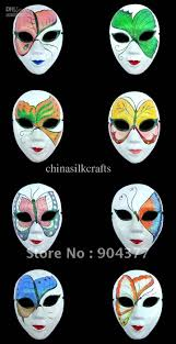 halloween masquerade mask white masquerade masks for halloween women paper mache decorated
