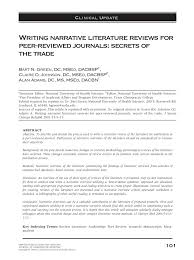 how to write a textual analysis paper writing narrative literature reviews for peer reviewed journals writing narrative literature reviews for peer reviewed journals secrets of the trade pdf download available