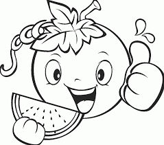 cute fruit coloring page coloring pages kids