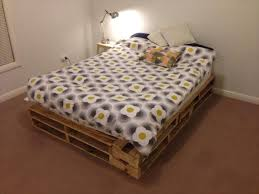 diy easy to build pallet bed pallet furniture diy