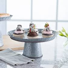 galvanized cake stand small galvanized metal cake stand kirklands