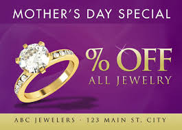 mothers day jewelry sale 31 brilliant jeweler direct mail postcard advertising exles