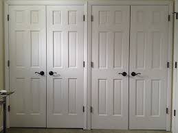 Double Swing Doors For Kitchen Bedroom White Painted Pine Closet Door With Colonial Panel Style