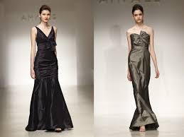 length silk taffeta amsale bridesmaids dresses for fall and winter