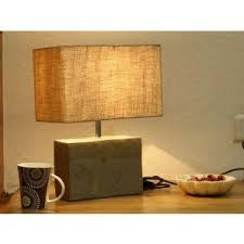 silver slate table lamp