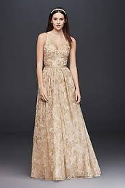 gold wedding dresses gowns david s bridal