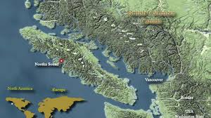 Sound Map Nootka Area Map Lodge Location On The West Coast Nootka Sound Bc