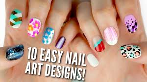 nail art 34 imposing easy nail art designs photo inspirations