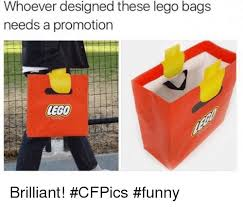 Funny Lego Memes - whoever designed these lego bags needs a promotion brilliant
