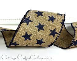 navy blue wired ribbon wired ribbon 2 1 2 wide navy blue on linen look