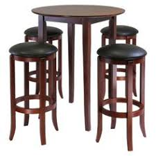 High Table Patio Set Small Pub Table For 4 Persons Chairs Fits Nicely Under The Table