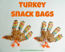 thanksgiving turkey snack bags for class at school snack