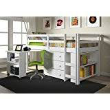 amazon com full sized low loft bed set w angled ladder kitchen