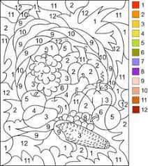 image result free printable color number adults