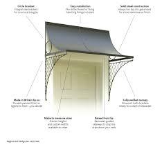 door canopy with brackets door canopies