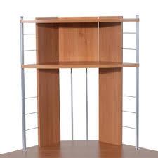 Corner Desk Beech Homcom 45 Arch Tower Corner Computer Desk Beech Wood
