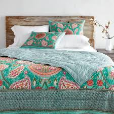 teal paisley reversible amaira quilt world market