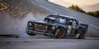 mustang 4 wheel drive it ken block tears up la in 845 hp mustang in gymkhana 7