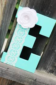 Letter Decorations For Nursery Letter E Baby Boy Nursery Decor Aqua E Name Nursery Decor