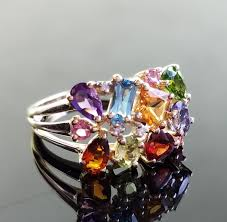 mothers ring with birthstones vintage s ring with 12 birthstones size 6 5 resizable