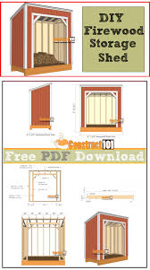 Diy Firewood Storage Shed Plans by Firewood Shed Plans 4x8 Pdf Download Construct101