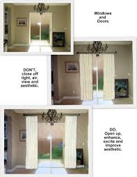 Curtains For Sliding Patio Doors How To Hang Curtain Rod Sliding Door Curtain Rods Throughout
