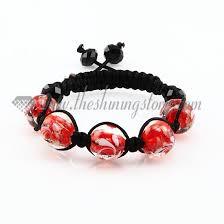 bracelet murano glass images Murano glass ball beaded macrame bracelets jpg