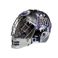 hockey mask halloween walmart franklin sports nhl team series edmonton oilers mini goalie mask