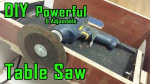 how to make drill powered table saw adjustable u0026 portable