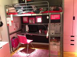 ikea svarta loft bed with desk for the big boy with less pink