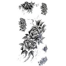 small black and white tattoos stickers waterproof temporary small