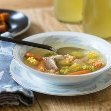gluten free turkey noodle soup from thanksgiving leftovers feed