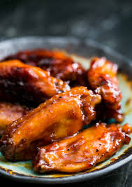 bourbon maple glazed chicken wings recipe simplyrecipes com