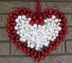 diy ornament wreath heart wreath for valentine u0027s day decoration