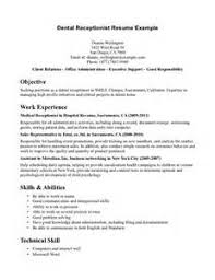 resume examples for medical receptionist receptionist resume