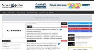 sora jobs blogger responsive template free download infitheme