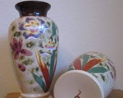 Antique Hand Painted Vases Handpainted Vase Etsy