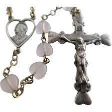 italian rosary vintage catholic rosary italian sterling silver malco from