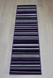 Purple Runner Rugs Element Canterbury Purple Black Stripes Rug Buy Rugs In The Uk