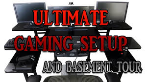 my ultimate gaming setup basement tour youtube