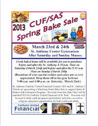 bake sale flyer for 2013 spirit and saints