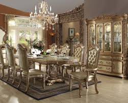 gold colored dining table for italian dining room decorating ideas