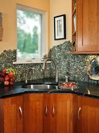 Diy Tile Backsplash Kitchen Wonderful River Rock Tile Backsplash 150 River Rock Tile Kitchen