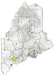 map of maine state of maine map of paper mills and distance from dingley the