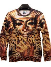 3d sweater buy pink pullover 3d design pharaoh print yellow