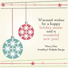 warmest wishes happy holidays
